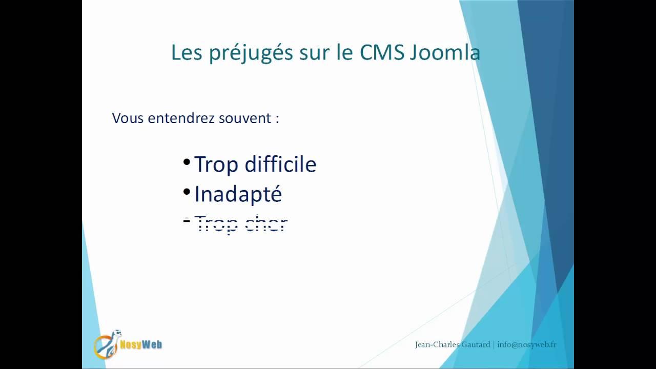 Projet sous Joomla - Les préjugés