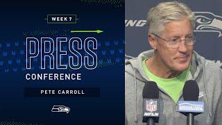 Head Coach Pete Carroll Week 7 Monday Press Conference   2019 Seattle Seahawks