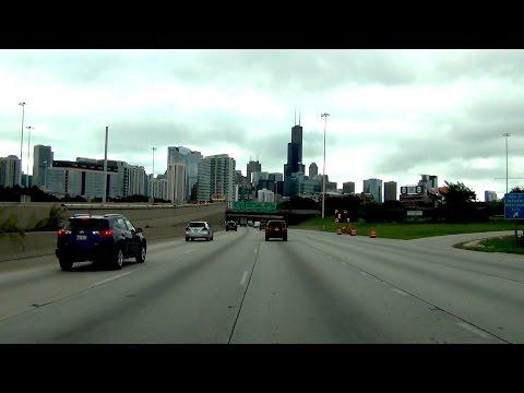Chicago, Illinois - I-90 - I-94 EB - Northwest Suburbs to Chinatown