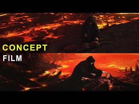 Star Wars Revenge Of The Sith Concept Art Vs Film