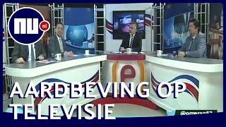 Live-uitzending wordt onderbroken door aardbeving in Turkije | NU.nl