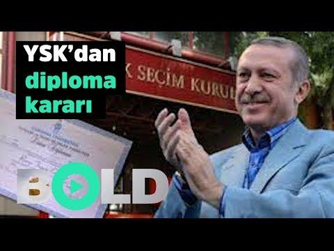 YSK'dan Cumhurbaşkanı Erdoğan'ın diploması hakkında karar