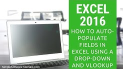 How to Auto-Populate Fields in Excel Using a Drop-Down and VLookup in Excel