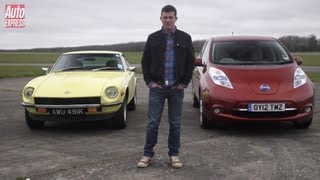 Datsun 240Z vs Nissan Leaf - Auto Express