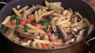 Tomato Basil Penne Pasta With Garlic And Ginger-eu