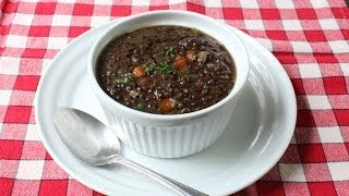 Black Lentil Soup Recipe - How To Make Lentil & Bacon Soup