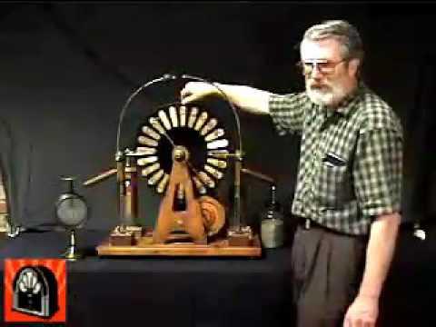 Демонстрация машины Вимшурста,   American Museum of Radio and Electricity