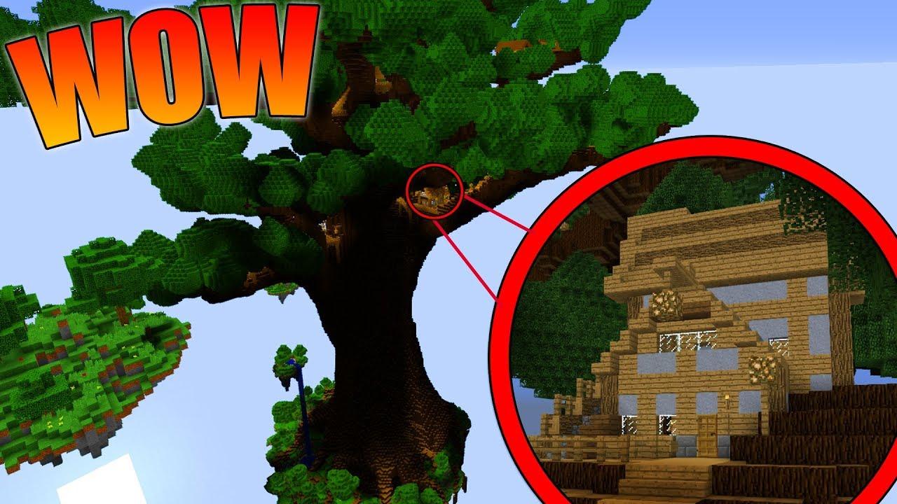 La casa sull 39 albero gigante non ci crederai youtube - Casa sull albero minecraft ...
