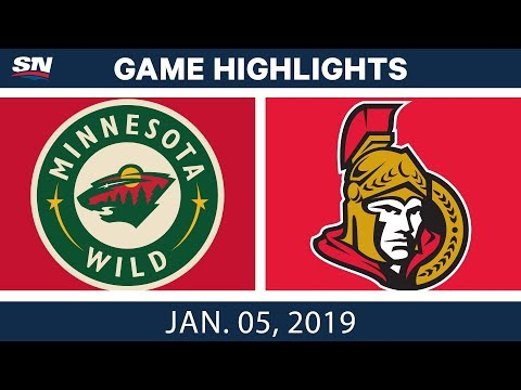 NHL Highlights | Wild vs. Senators - Jan. 5, 2019