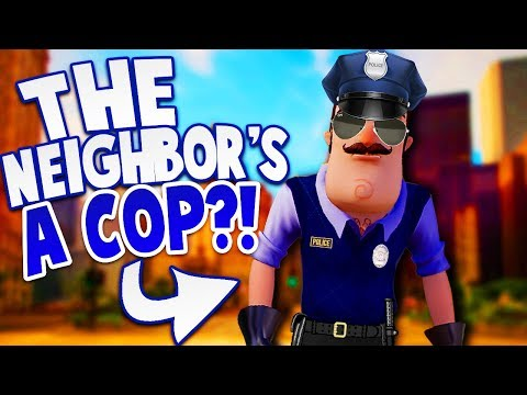 THE NEIGHBOR IS NOW A POLICEMAN?!  Hello Neighbor Mobile Game Rip Off Police Neighbor