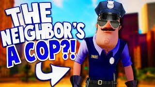 THE NEIGHBOR IS NOW A POLICEMAN?! | Hello Neighbor Mobile Game Rip Off (Police Neighbor)