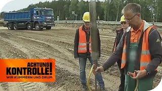 Baustelle auf der A12 bei Berlin: Gibt es Mängel im Baubereich? | Achtung Kontrolle | kabel eins