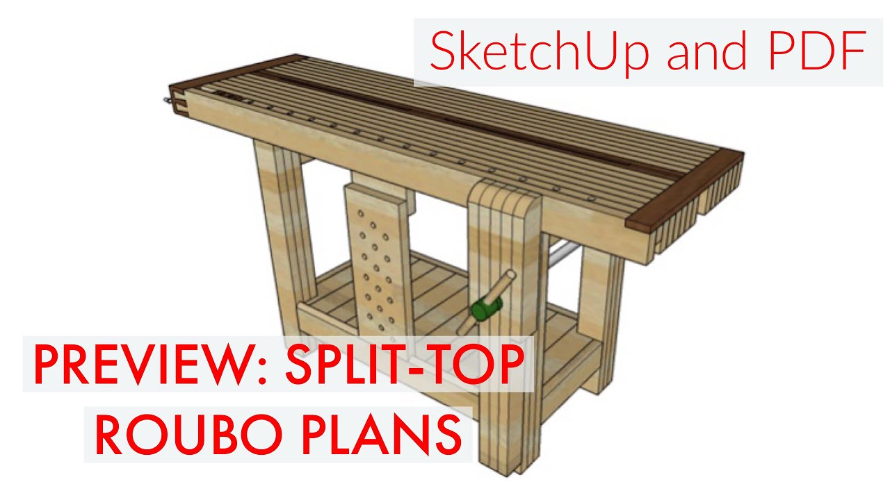 Roubo Workbench Plans Sketchup