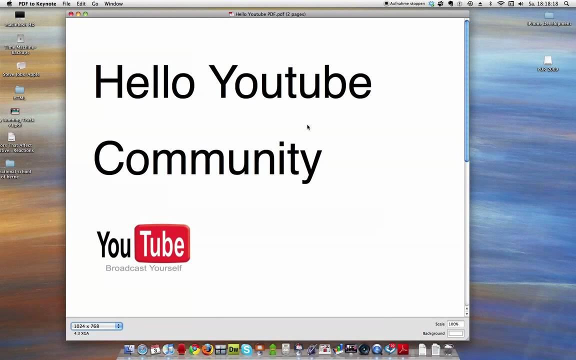 PDF To Keynote - YouTube