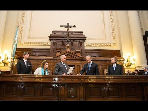 La Corte Suprema de Justicia tomó juramento a Carlos Rosenkrantz como ministro del tribunal