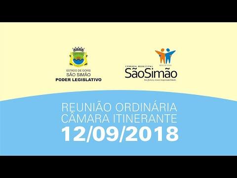 REUNIAO ORDINARIA 12/09/2018 - CÂMARA ITINERANTE