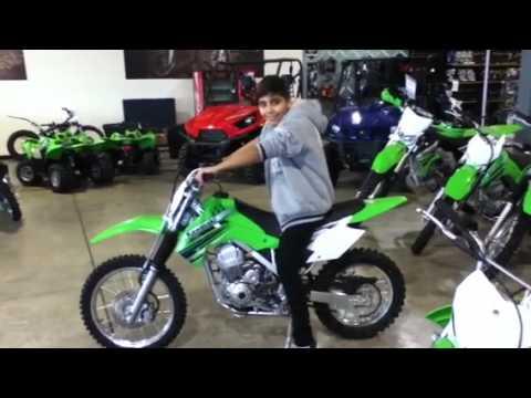 Kawasaki 110cc me on minibike - YouTube