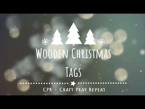 Wooden Christmas Tags 2018