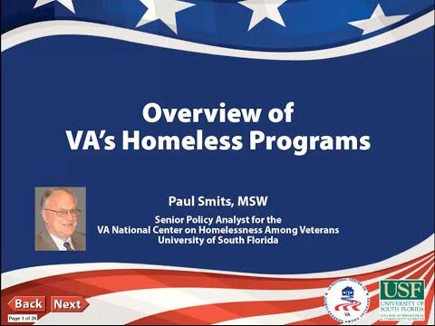 Overview of VA Homeless Program