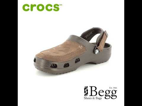 4b0abdeb50fa3 Crocs Yukon Vista 205177-22Z Brown shoes - YouTube