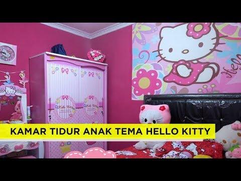 29 Dekorasi Desain kamar tidur anak Perempuan dengan Tema Hello Kitty Terbaru dan Terlengkap