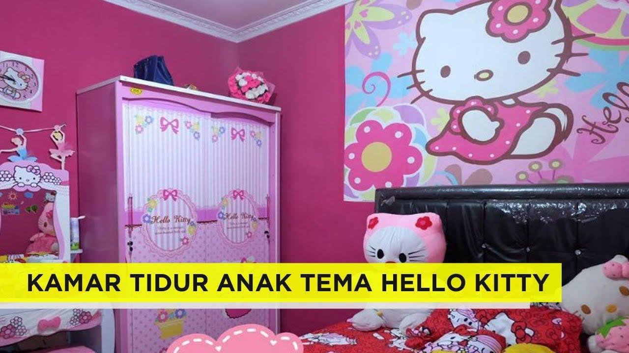29 dekorasi desain kamar tidur anak perempuan dengan tema hello