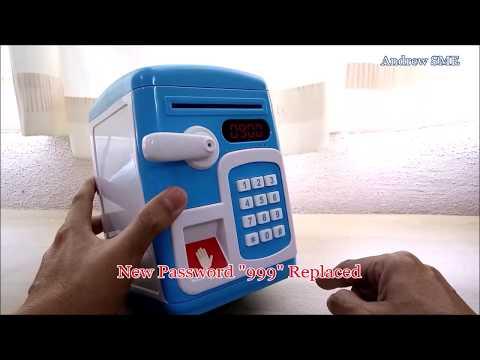 Toy Saving Box Make A Habit for Children How To Plan Saving Pocket Money - FingerPrint ATM Machine