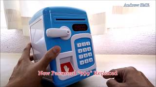 Toy Saving Box Make A Habit for Children How To Plan Saving Pocket Money - FingerPrint ATM Machine
