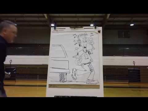 Cartooning at Tanner High School in Tanner Alabama