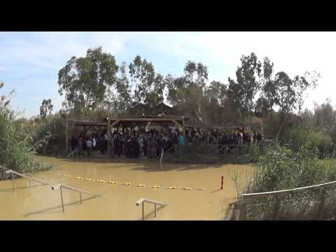 A Greek Orthodox Epiphany ceremony on the Jordanian side of the Jordan River Baptism Site