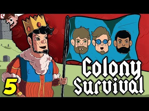 The KNOCKOFF Castle! | More Archers More Fun! (COLONY SURVIVAL - Derp Crew Edition)