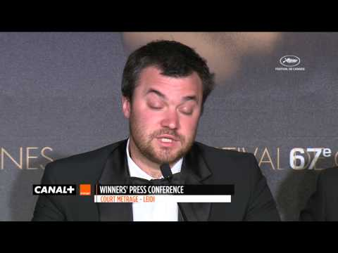 Cannes 2014 - LEIDI : Conférence de presse Palme d'Or du Court-Métrage