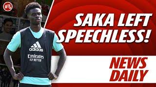 Saka Left Speechless!   AFTV News Daily