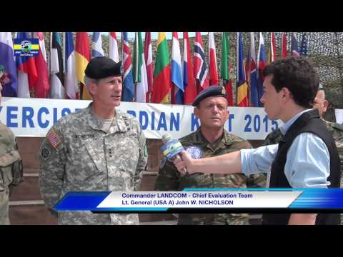 "Interview with Commander LANDCOM Lt. General (USA A) John W. NICHOLSON,at Ex ""GORDIAN KNOT 2015"""