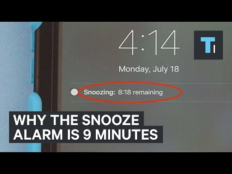Why the snooze alarm is 9 minutes