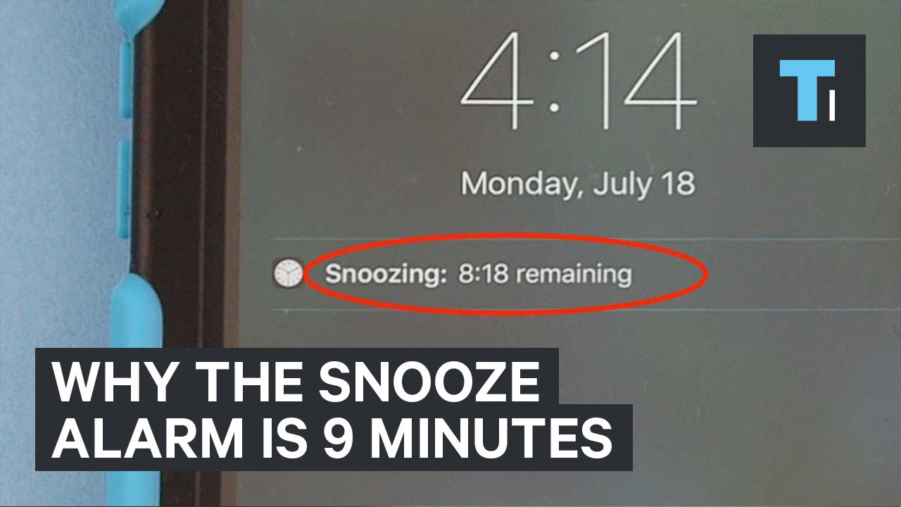 Why The Snooze Alarm Is 9 Minutes Youtube