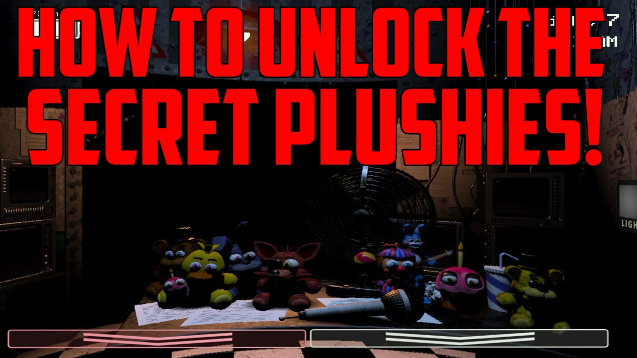At freddy s 2 how to unlock the secret desk plushies youtube