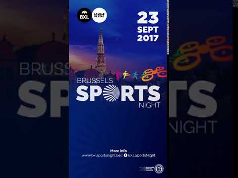 Brussels Sport Night vertical displays