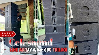 FINISH!!! CEK SOUND LINE ARRAY 6 INCH & CBS TRILOGI 12 INCH