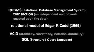 Relational Databases (part 1 of 6)