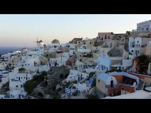Sunrise in beautiful Oia on the Greek Island of Santorini