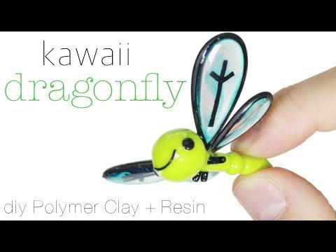 How to DIY Kawaii Dragonfly Polymer Clay/Resin Tutorial