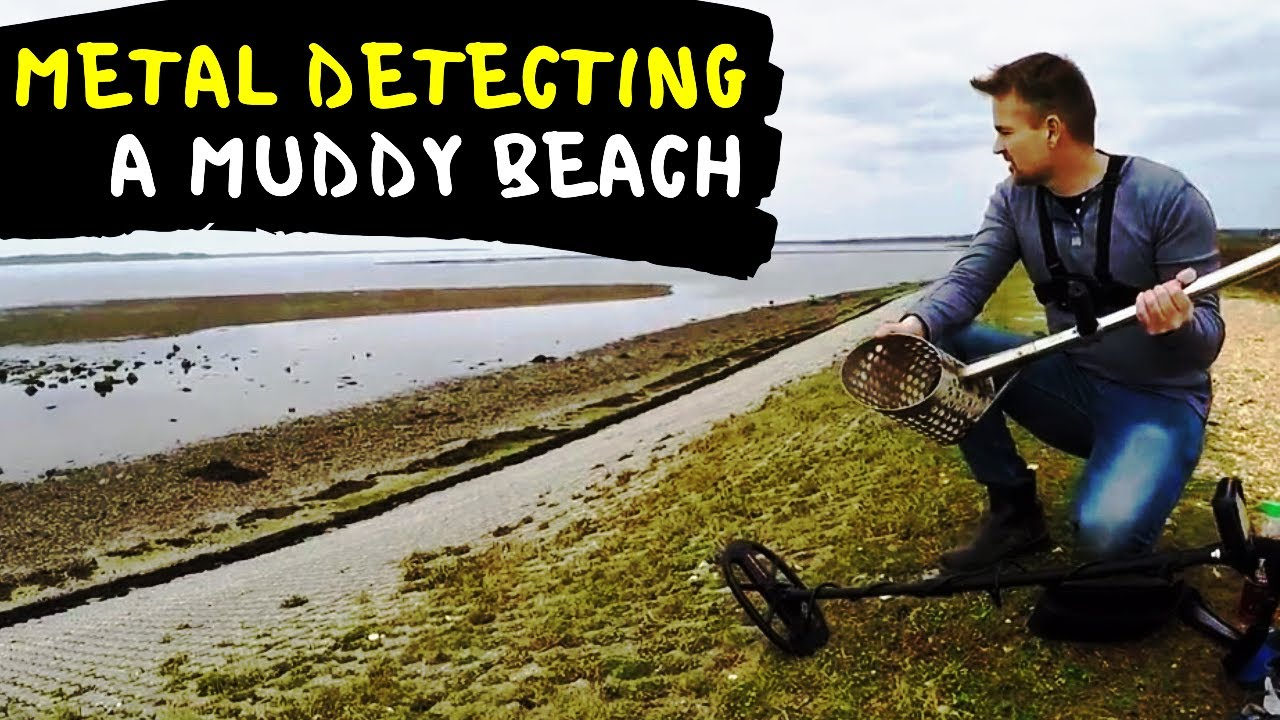 medium resolution of metal detecting a shingle mud beach makro racer 2 evolution 360 scoop and easy swing harness youtube