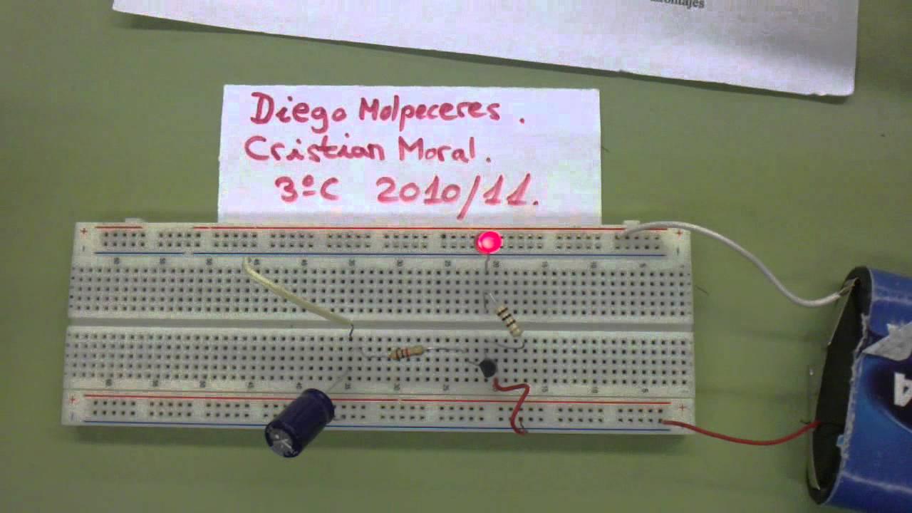 Temporizador Condensador 1000ms Duracin Youtube How To Make Capacitor Charging Discharging Circuitinteresting