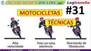 DIREÇÃO DEFENSIVA MOTOCICLETA - Técnicas de Frenagem, Curvas, Chuva, Noite, Passageiros...