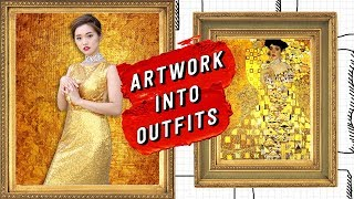 Recreating Artwork into Outfits | Dressing Up like Figures in Paintings
