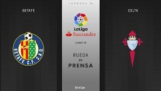 Rueda de prensa Getafe vs Celta