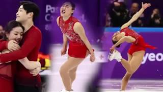 Mirai Nagasu from the USA It stumbles during the axle of tiple at the 2018 Winter Olympics
