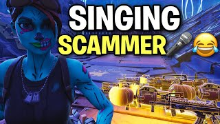 Crazy Scammer Sings for his Guns Back! 🎤🤣 (Scammer Get Scammed) Fortnite Save The World
