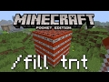 Minecraft PE - How To Use The Fill Command!
